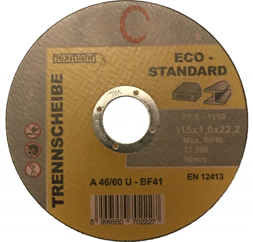 FORCUT ECO-STANDARD 115x1,0x22,2 mm vágókorong