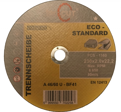 FORCUT ECO-STANDARD 230x2,0x22,2 mm vágókorong
